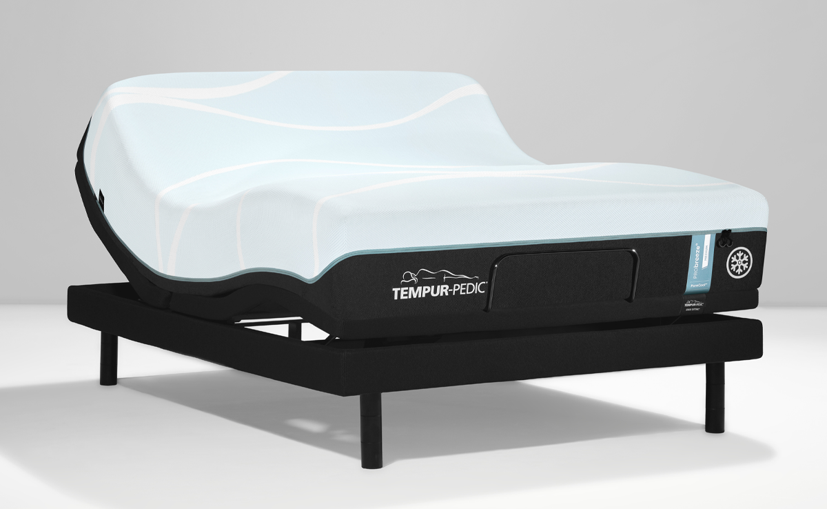 Breeze mattress on an adjustable base