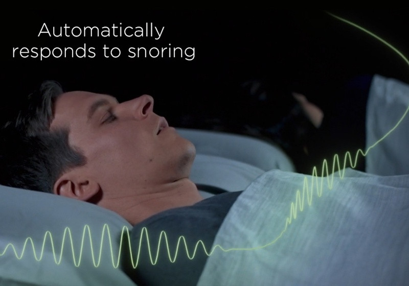 The Ergo Smart Base automatically adjusts your position to an Anti Snore Position If it senses snoring