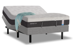 Essential mattress with ergo premier base with a blanket draped on the size thumbnail image