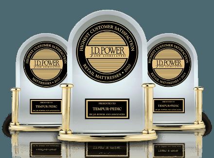 JD Power trophies three