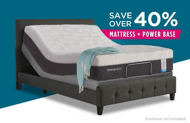 Premier Bundle with white background and save over 40% mattress + power base image
