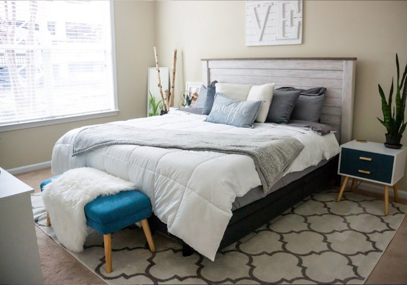A Tempur-Pedic mattress in a styled room
