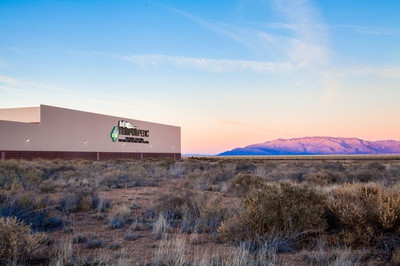 Tempur-Pedic Albuquerque Plant with sunset and mountains