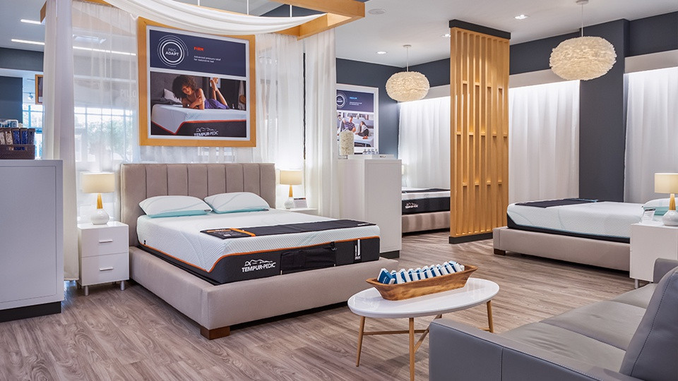 Tempur-Pedic beds in a Tempur-Pedic flagship store.