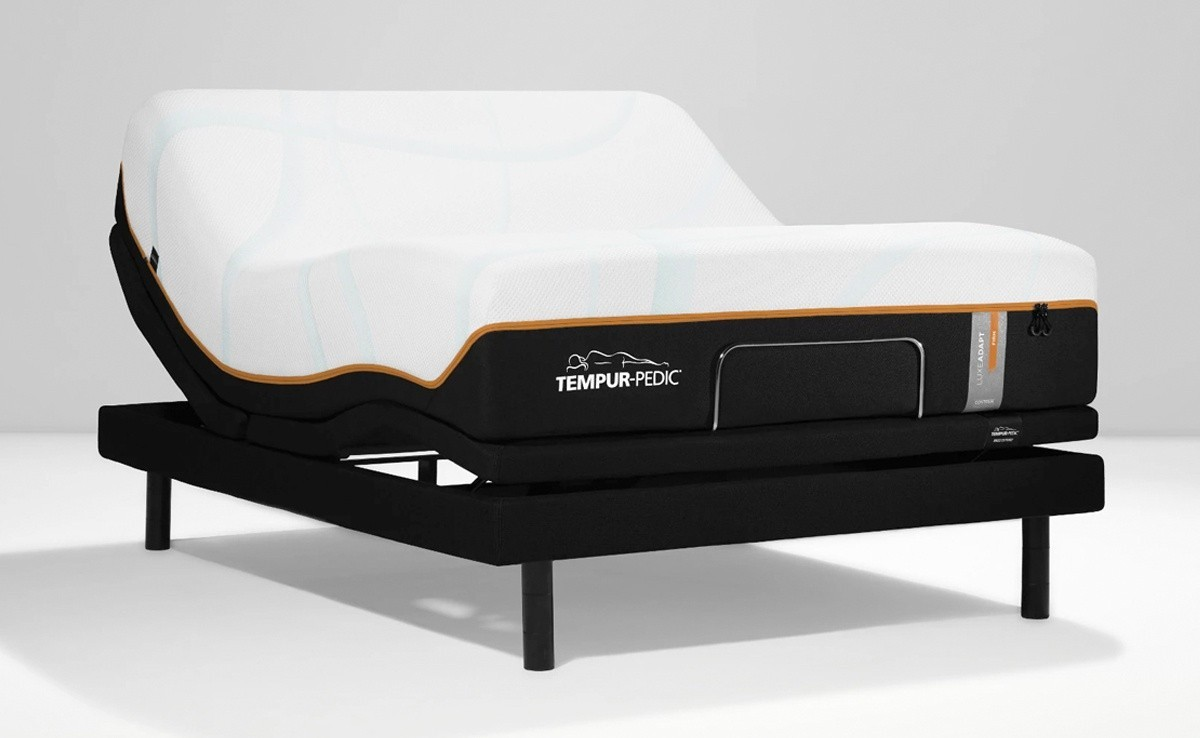 LuxeAdapt mattress on an adjustable base