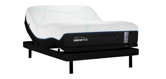 A Tempur-LuxeAdapt Soft Queen mattress on a Tempur-Ergo Extend Adjustable Power Base