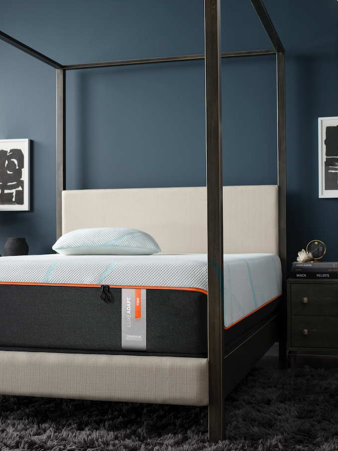 LuxeAdapt mattress styled in bedroom