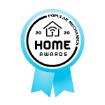 "An award ribbon that reads ""Popular Mechanics 2020 Home Awards"""