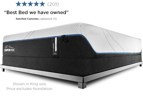 King size proadapt soft feel mattress on a flat foundation with a 5 star review: best bed we have owned