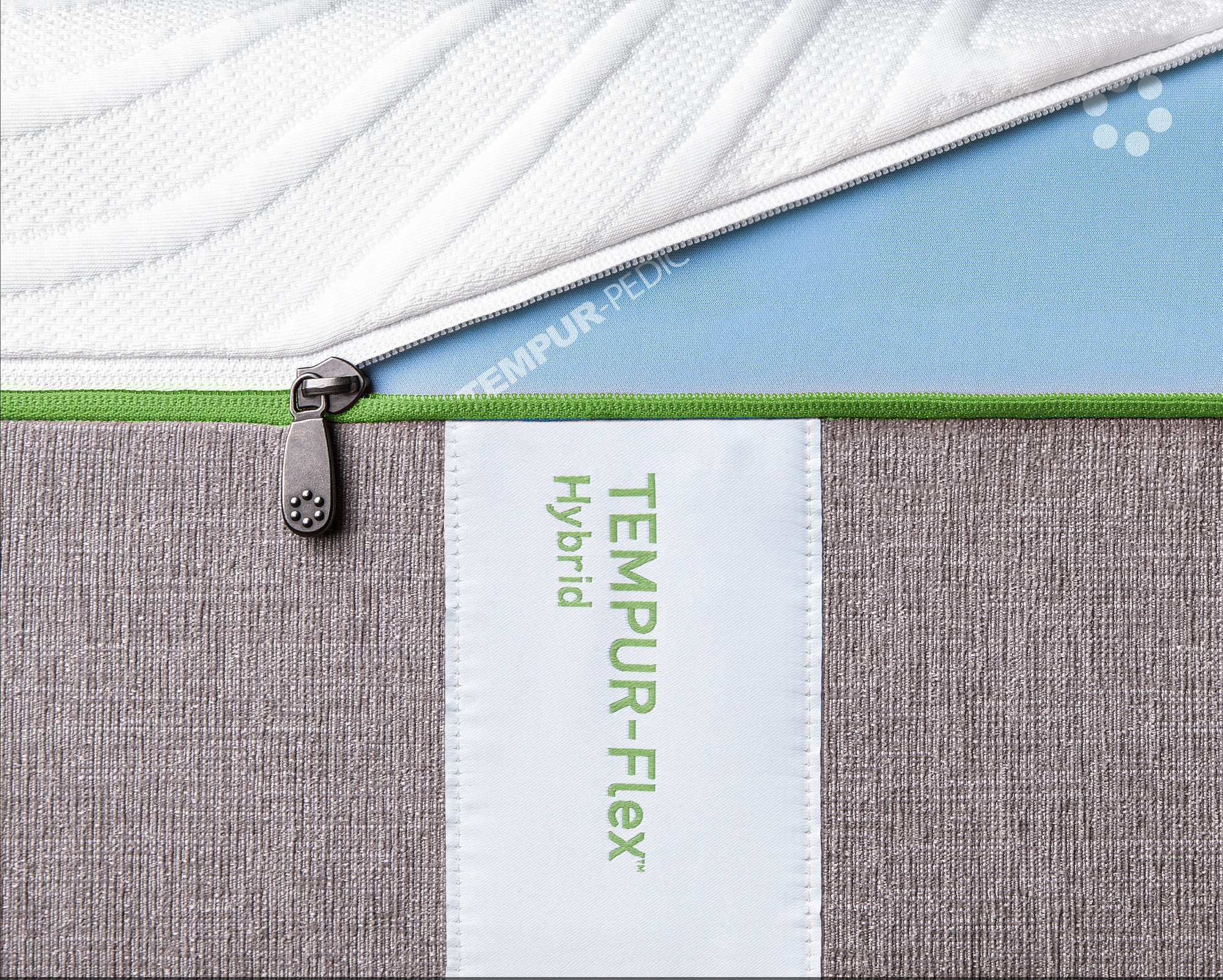 An EasyRefresh cover shown on a Tempur-Flex Elite mattress